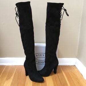 STEVE MADDEN Gleemer Faux Suede Over Knee Boots